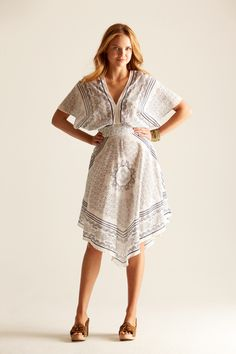 Would love to #sew a #dress like this... I love the handkerchief look to it. So pretty for summer.