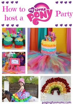 How to host a My Little Pony Party :http://pagingfunmums.com/2015/04/16/how-to-host-a-my-little-pony-party/