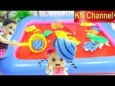 Đồ chơi Câu Cá BÚP BÊ BARBIE BẮT CON SÒ LỤA   Fishing toys game Kids toys TRÒ CHƠI CÂU CÁ
