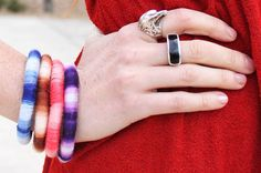 Ombre Wrapped DIY Bangles