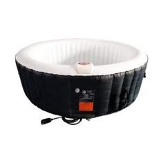 Find deep relaxation in your own backyard oasis with ALEKO's round inflatable hot tub. This spa provides all of the mental and physical health benefits of a traditional hot tub with a more convenient Round Hot Tub, Tubs For Sale, Drinks Tray, Tub Cleaner, Deep Relaxation, Sit Back And Relax, Cool Things To Buy, Hot Tubs, Black And White