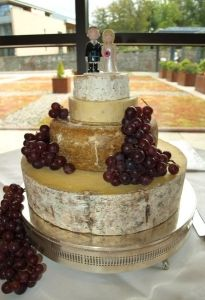 Cheese wedding cake, with a personalised cake topper x