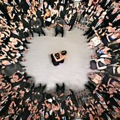 New must-have photo: An overhead shot of the first dance! (via Tony Gajate Photography)