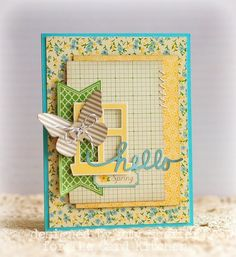 card butterfly butterflies - scripty Hello Spring card - jillybean soup - butterfly card