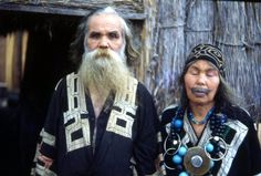 Ainu couple 1950's The Ainu are the indigenous people of Japan - sharing a relationship with the Japanese government similar to that of the American relationship with native American tribes. Today there are almost no pure Ainu. Physicaly, they share traits with Oceanic peoples, Asians, and Caucasians. Genetically, they cluster with other Asians, and may represent a more archaic or 'generalized' Eurasian look before Caucasians/Asians became more specialized and physically distinct.