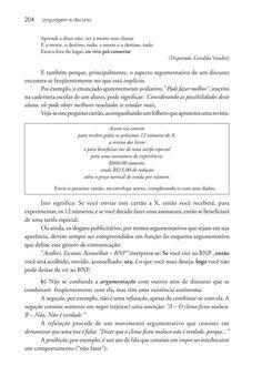 Página 204  Pressione a tecla A para ler o texto da página