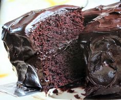 Old Fashioned Chocolate Cake with Glossy Chocolate Icing  -   Best Chocolate Cake ever!