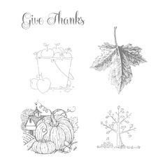 Best of Autumn; Give Thanks, bucket of apples, leaf, falling leaves tree, pumpkins/barn