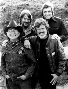 The Highway Men ♥♥♥  Willie Nelson, Kris Kristofferson Waylon Jennings and Johnny Cash