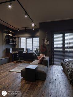Home interior Modern Simple - - - - Home Room Design, Home Office Design, Home Interior Design, House Design, Interior Modern, Bedroom Setup, Bedroom Decor, Appartement Design, Home Office Setup