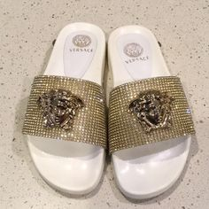 560ee2bb0 Shop Women s Versace White size Sandals at a discounted price at Poshmark.