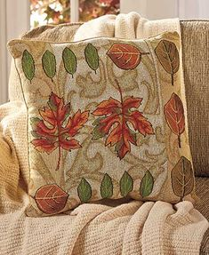 Leaves Tapestry Pillow
