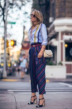 mixed stripes outfit