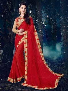 d9fd2863fa 20 Fascinating saree images | Georgette sarees, Indian sarees ...