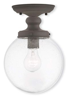 Livex Lighting 50911 Northampton 1 Light Semi Flush Ceiling Fixture Br