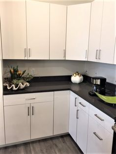 Classic White Cabinets With Modern Gray Quartz Countertops. Located At  Ridge45 Apartments In Traverse City