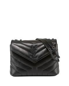 Yves Saint Laurent Bag, Saint Laurent Handbags, St Laurent, Quilted Leather, Cow Leather, Black Leather, Chain Shoulder Bag, Leather Shoulder Bag, Shoulder Bags