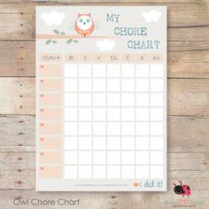 OWL CHORE CHART