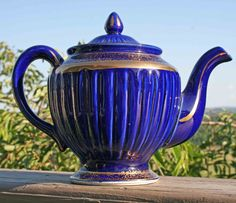 Cobalt w/ Gold Teapot Hall by Confetti