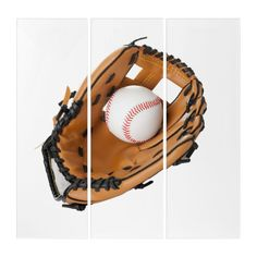 Baseball and Training Glove Triptych | Zazzle.com Just Because Gifts, Birthday Gifts For Boyfriend, Sports Baseball, Wall Art Sets, Triptych, Party Hats, Birthday Cards, Birthday Ideas, Football Helmets