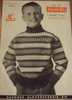 Truls 399 Norwegian Knitting, Christmas Jumpers, Vintage Knitting, Festival Wear, Vintage Christmas, Knitting Patterns, Men Sweater, Retro, Sweatshirts