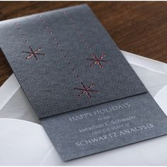 Snowfall Corporate Holiday Card by Checkerboard Ltd. Corporate Holiday Cards, Business Holiday Cards, New Year Card, New Year Gifts, Print Layout, Xmas Decorations, Invitation Cards, Christmas Cards, Stationery