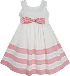 Sunny Fashion Big Girls' Dress Pink Bow Tie Strip Summer Beach Size 8 Sunny Fashion http://www.amazon.com/dp/B00LZJ1BWQ/ref=cm_sw_r_pi_dp_m--Fub0FZ7T2K