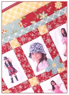 Smilin' Daisies Photo & Memory Quilt