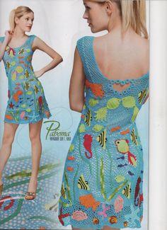 Duplet 137 buchen Juli 2012 russische Crochet Patterns irische Spitze Kleider, Tops-Badeanzug-Magazin