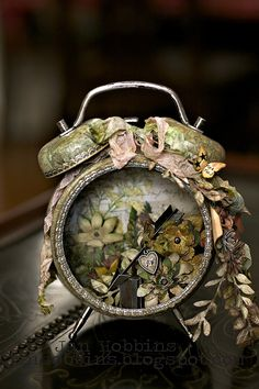 Altered Tim Holtz Clock - Scrapbook.com