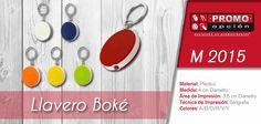 El artículo del día es el M 2015 LLAVERO BOKÉ (INCLUYE LUZ DE 1 LED. INCLUYE BATERÍA.) Conoce más de él en www.promoopcion.com Material: Plástico Medida: 4 cm Diámetro Área de impresión: 3.5 cm Diámetro Técnica de impresión recomendada: Serigrafía Colores: A/B/O/R/V/Y  CONSULTA EXISTENCIAS Y PRECIOS CON TU EJECUTIVA DE CUENTA.