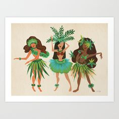 Buy Luau Girls by Cat Coquillette as a high quality Art Print. Worldwide shipping available at Society6.com. Just one of millions of products available.
