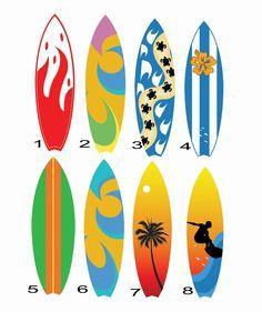 Adesivos Prancha de Surf | Marcello Art | Elo7