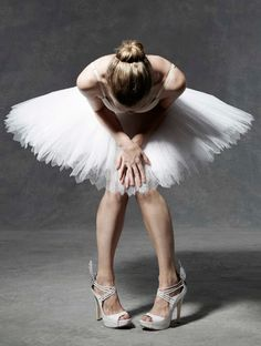 The English National Ballet has invited top fashion designers including Giles Deacon, Julien Macdonald, Moschino and Erdem to create their own take on the tutu - shoes by Beatrix Ong