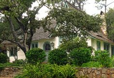 The Comstock House or Obers  Hugh Comstock  Carmel-by-the-Sea    Go to this like for fantastic pictures of the interior!    http://talesfromcarmel.com/2012/02/21/i-am-invited-to-tour-hugh-comstocks-cottage/