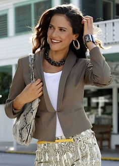 Obsessed with blazers! Lace Blazer, Blazer And Shorts, Taupe Colour, Color, Cute Blazers, Business Fashion, Business Style, Holy Chic, Cool Style