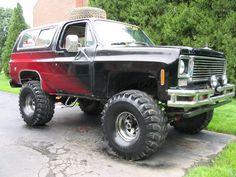 Chevy 4x4, Chevy Trucks, K5 Blazer, Monster Trucks, Offroad, Vehicles, Rebel, Squares, Badass