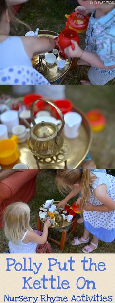 Polly Put The Kettle On  - Perfect for pretend tea parties in the garden! Let's Play Music