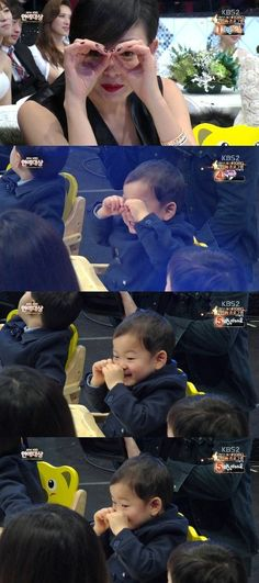 'Aegyo Prince' Min Gook Melts Hearts by Copying Yano Shiho at 2014 KBS Entertainment Awards Cute Kids, Cute Babies, Baby Kids, Song Il Gook, Superman Kids, Man Se, Song Daehan, Song Triplets, Korean Variety Shows