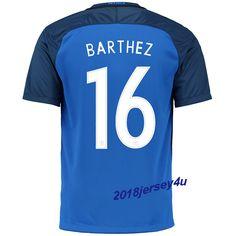 Fabien Barthez 16 UEFA Euro 2016 France Home Jersey