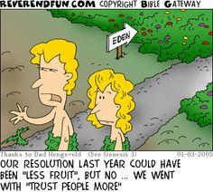 "ReverendFun.com : Cartoon for Jan 3, 2005: ""Regretting Resolutions"""