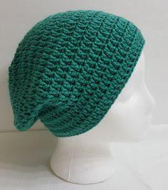 97669a817c193 Crochet Slouchy Beanie Slouchy Crochet Hat by KnotJustCrochetHere Gorro  Tejido Para Hombre