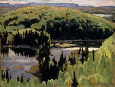 "Lawren Stewart Harris - Canada / Group of Seven - ""Silent Island,"" 1920 Group Of Seven Artists, Group Of Seven Paintings, Tom Thomson, Emily Carr, Canadian Painters, Canadian Artists, Abstract Landscape, Landscape Paintings, Abstract Art"