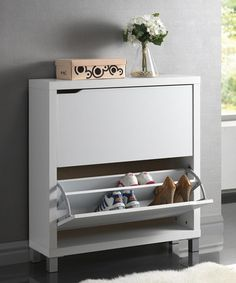 look what i found on zulily white cabinet by baxton studio zulilyfinds b131t modern noble lacquer