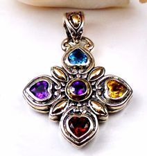 SAMUEL B BJC 18K Gold Sterling Silver 925 Multi Stone Garnet Amethyst PendantSAMUEL B BJC 18K Gold Sterling Silver 925 Multi Stone Garnet Amethyst Pendant  $109.00  Was: $119.00  or Best Offer  Free shipping  10 watching  8% off