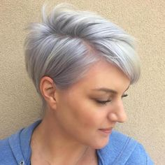 Pastel Purple Side Parted Pixie