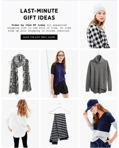 Madewell.com last minute gift guide Email Newsletter Design, Email Design, Business Emails, Work Inspiration, Last Minute Gifts, Creative Design, Madewell, Topshop, Shopping