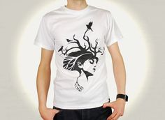 A lovely design by Stray. Roots Tshirt  http://bagofbees.co.uk/shop/roots-medusa-male