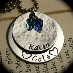 Round Hand Stamped Name Necklace from Black River Beads for $15.00 – $26.00