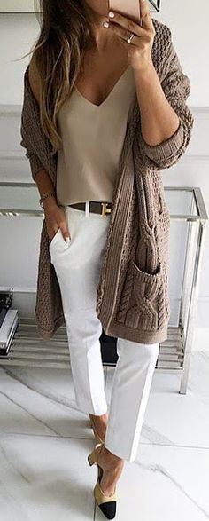 #fall #outfits / knit cardigan